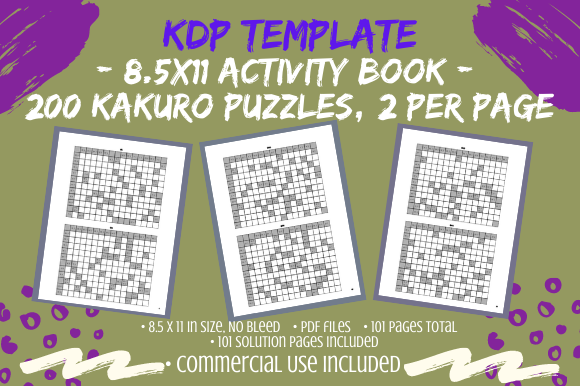 Print on Demand: Kakuro Puzzle Book 200 Puzzles for KDP Graphic KDP Interiors By Tomboy Designs