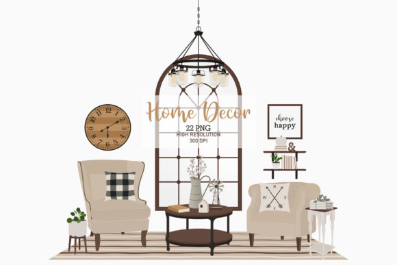 Modern Farmhouse Home Decor Graphic Illustrations By Sweet Shop Design