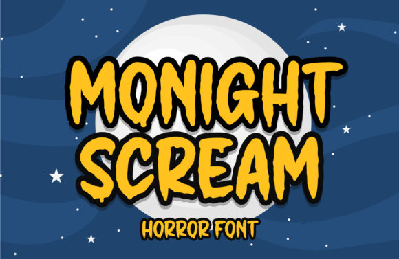 Print on Demand: Monight Scream Display Font By Typefar