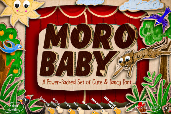 Print on Demand: Moro Baby Display Font By Balibilly Design