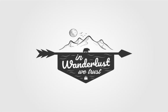 Mountain Wanderlust Logo Vector Graphic Logos By lawoel