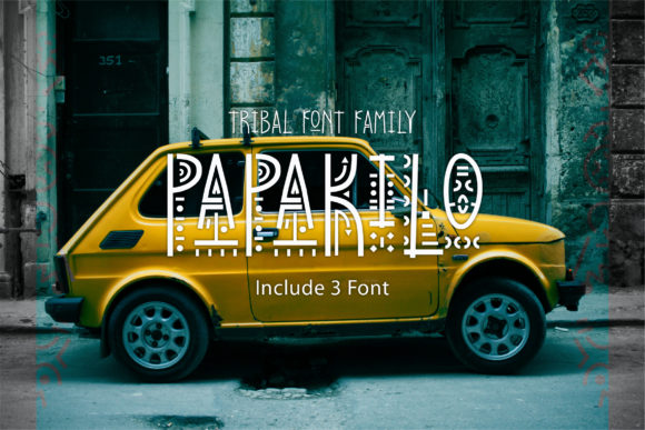 Print on Demand: PapaKilo Decorative Font By emanesdsign