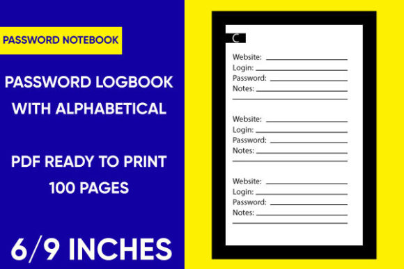 Print on Demand: Password Journal with Alphabetical Tabs Graphic KDP Interiors By Mah Moud