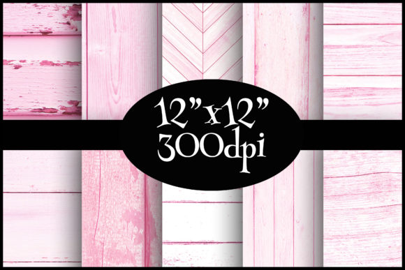 Print on Demand: Pink Wood Digital Paper Pack Graphic Backgrounds By Party Pixelz