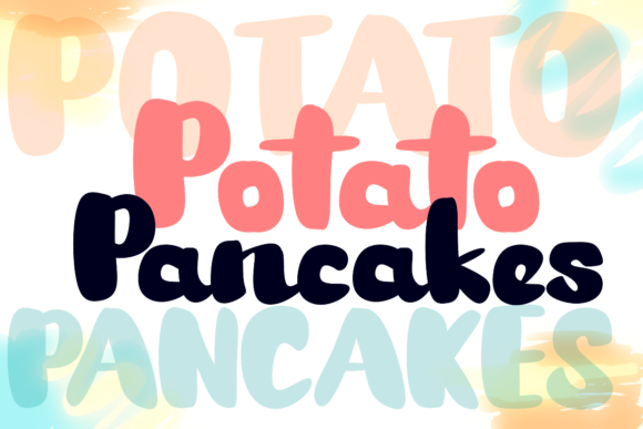 Print on Demand: Potato Pancakes Display Font By deedeetype