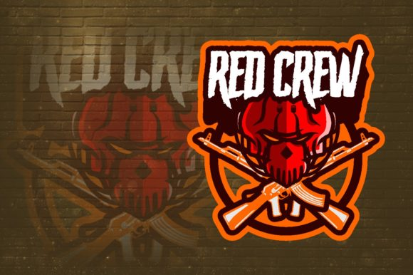 Red Crew E-Sport Logo Graphic Graphic Logos By remarena