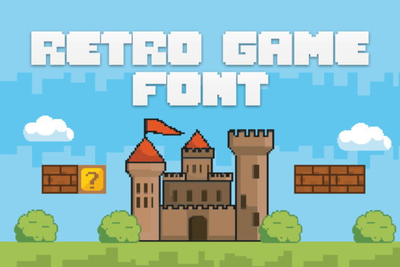 Print on Demand: Retro Game Display Font By OWPictures