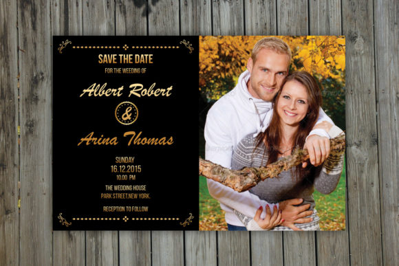 Print on Demand: Save the Date Photoshop Template Graphic Print Templates By sistecbd