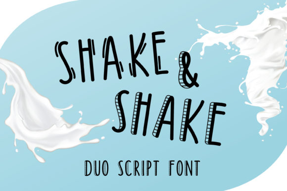 Print on Demand: Shake & Shake Display Font By Pila Studio