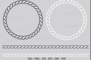 Shield Frame, Rope Frame Graphic Crafts By RedCreations