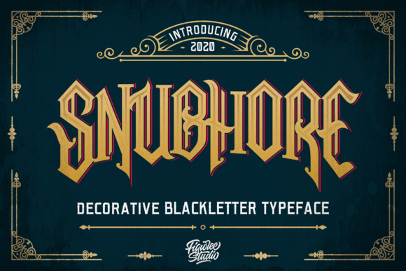 Print on Demand: Snubhore Blackletter Font By figuree studio