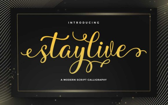 Print on Demand: Stay Live Script & Handwritten Font By rotterlabstudio