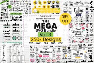 The Mega Bundle Design, 250 Designs Graphic Crafts By redearth and gumtrees