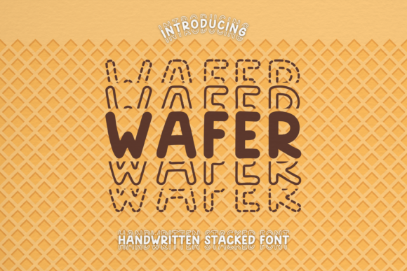 Print on Demand: Wafer Display Font By WADLEN