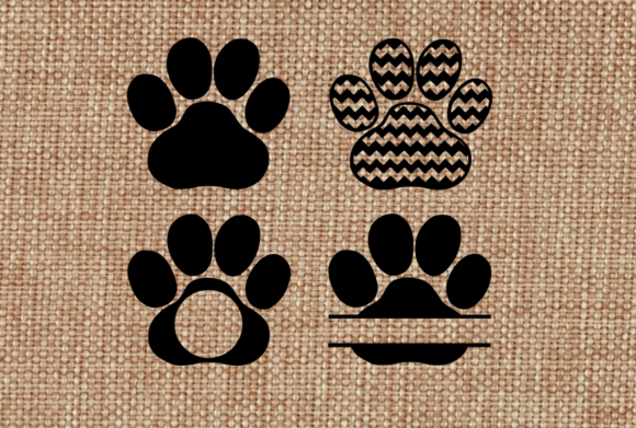 Paw Prints Cat Dog  Graphic Crafts By Hayley Dockery