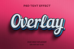 Text Effect - Blue Lack on Red Graphic Graphic Templates By Wudel Mbois