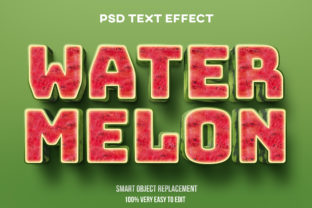 Text Effect - Realistic Watermelon Text Graphic Graphic Templates By Wudel Mbois