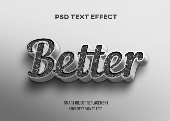 Text Effect - White and Grey Modern Graphic Graphic Templates By Wudel Mbois