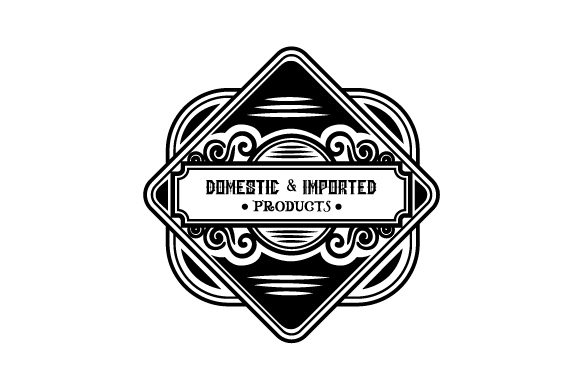 Domestic and Imported Products Garage Craft Cut File By Creative Fabrica Crafts
