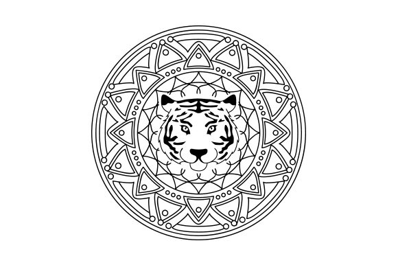 Tiger Mandalas Craft Cut File By Creative Fabrica Crafts