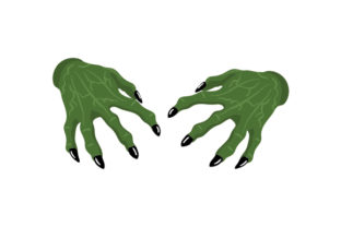 Creepy Witch Hands Halloween Craft Cut File By Creative Fabrica Crafts