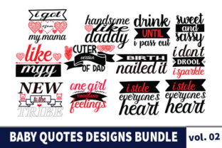 Print on Demand: 20 Baby Quotes Designs Bundle Graphic Print Templates By Star_Graphics