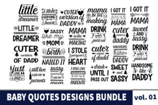 Print on Demand: 44 Baby Quotes Designs Bundle Graphic Print Templates By Star_Graphics