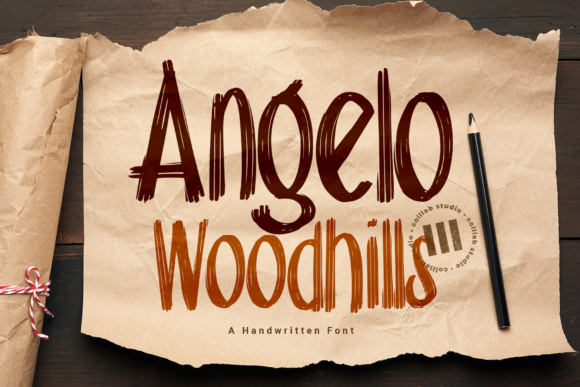 Print on Demand: Angelo Woodhills Display Font By colllabstudio