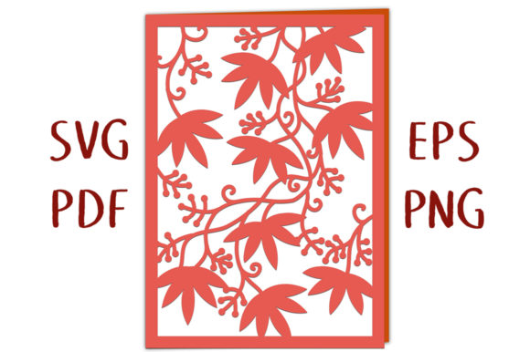 """Print on Demand: Autumn Leaves 7x5"""" Greetings Card Graphic 3D SVG By Nic Squirrell"""
