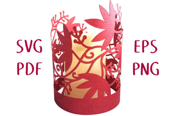 Print on Demand: Autumn Vine Lantern 3D Graphic 3D SVG By Nic Squirrell