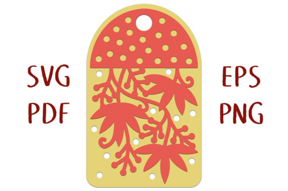 Print on Demand: Autumn Vine Layered Gift Tag Graphic 3D SVG By Nic Squirrell