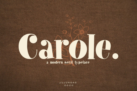 Print on Demand: Carole Serif Font By Nerdstudio