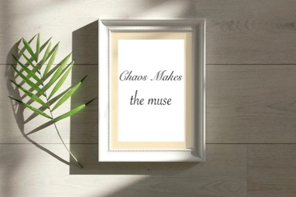 Chaos Makes the Muse Graphic Print Templates By PitchaType