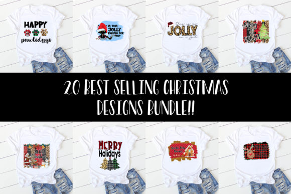 Print on Demand: Christmas Sublimation Bundle Graphic Illustrations By Studio 17 Designs - Image 3