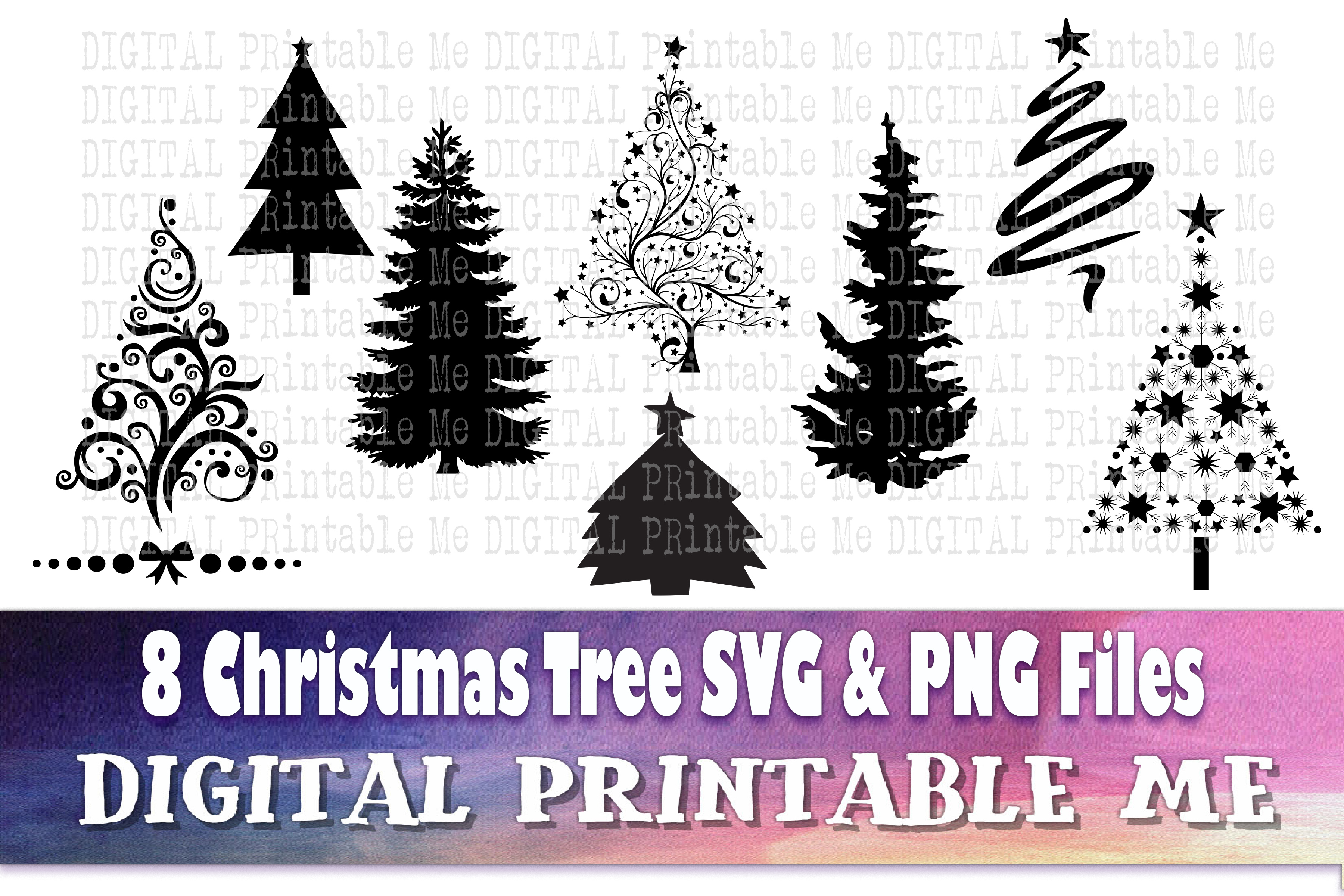 christmas tree silhouette graphic by digitalprintableme creative fabrica christmas tree silhouette