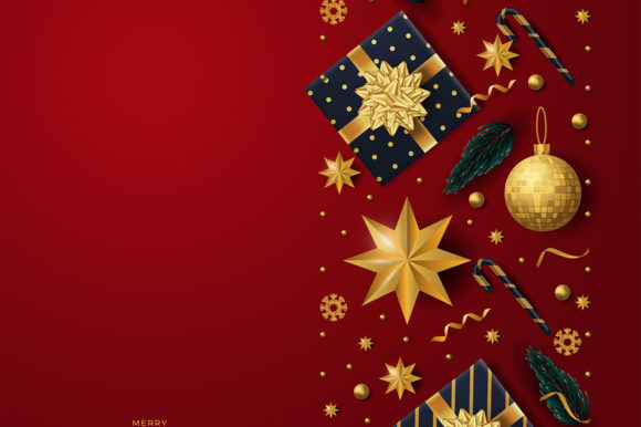 Christmas Background with Fir Tree Graphic Illustrations By Aghiez