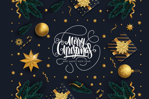Christmas Greeting Card Graphic Illustrations By Aghiez