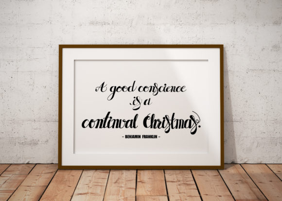 Christmas Quote, Lettering Graphic Illustrations By baigern