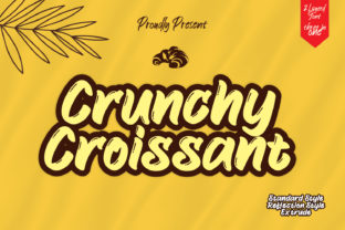 Print on Demand: Crunchy Croissant Script & Handwritten Font By creativework69