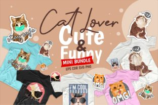 Print on Demand: Cute Cat Cartoon Bundle Graphic Illustrations By Universtock