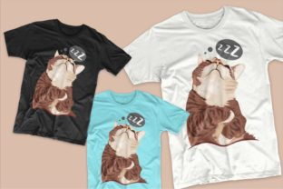 Print on Demand: Cute Cat Cartoon Bundle Graphic Illustrations By Universtock 2