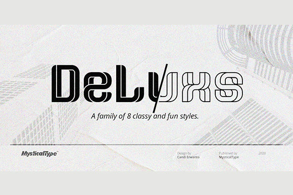 Print on Demand: DeLuxs Display Font By MysticalType