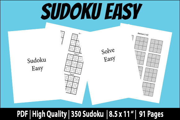 Print on Demand: Easy Sudoku Brain Puzzles Game & Answers Graphic KDP Interiors By Creative Crafts