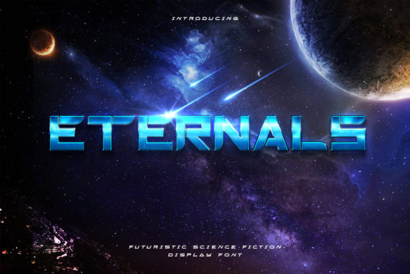 Print on Demand: Eternals Display Font By naulicrea