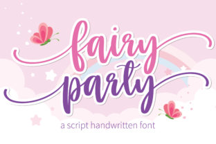 Print on Demand: Fairy Party Script & Handwritten Font By BitongType