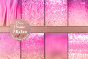 Feminine Girly Pink Passion Textures Graphic Backgrounds By AM Digital Designs