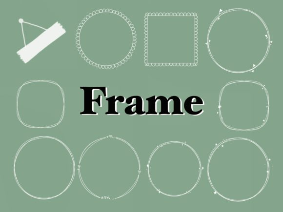 Frames Stamps for Procreate Graphic Brushes By secondjul