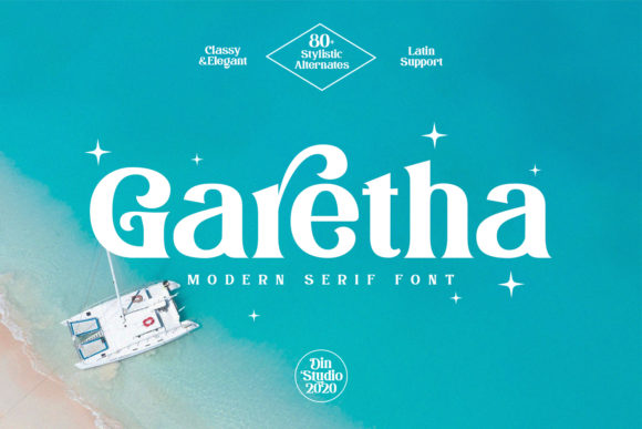 Print on Demand: Garetha Serif Font By Din Studio