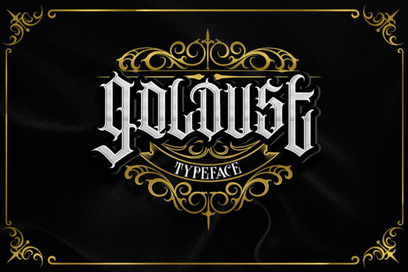 Print on Demand: Goldust Blackletter Font By Dansdesign