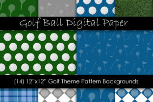 Golf Ball Patterns & Golf Backgrounds Graphic Backgrounds By GJSArt 1